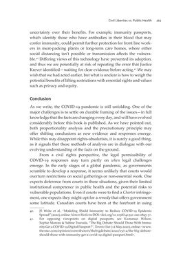 Bild der Seite - 263 - in VULNERABLE - The Law, Policy and Ethics of COVID-19