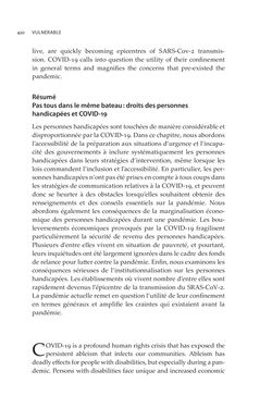 Bild der Seite - 420 - in VULNERABLE - The Law, Policy and Ethics of COVID-19