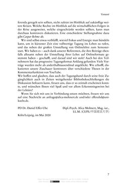 Image of the Page - 7 - in Vertragsrecht in der Coronakrise