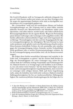 Bild der Seite - 12 - in Vertragsrecht in der Coronakrise