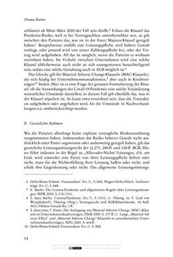 Image of the Page - 14 - in Vertragsrecht in der Coronakrise
