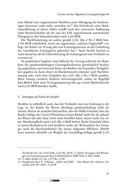 Image of the Page - 31 - in Vertragsrecht in der Coronakrise