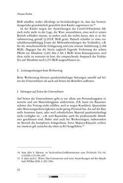 Bild der Seite - 32 - in Vertragsrecht in der Coronakrise