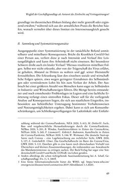 Image of the Page - 49 - in Vertragsrecht in der Coronakrise