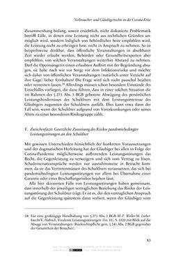 Bild der Seite - 83 - in Vertragsrecht in der Coronakrise