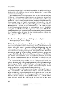 Image of the Page - 90 - in Vertragsrecht in der Coronakrise