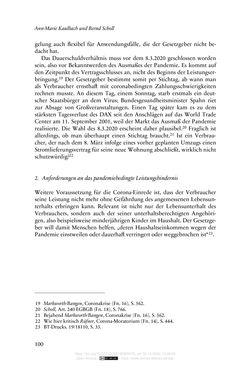 Bild der Seite - 100 - in Vertragsrecht in der Coronakrise