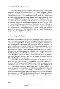 Image of the Page - 134 - in Vertragsrecht in der Coronakrise