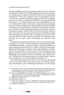 Bild der Seite - 140 - in Vertragsrecht in der Coronakrise