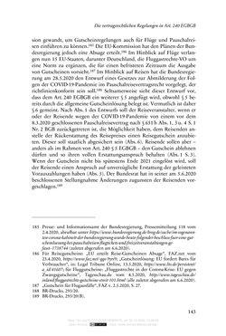 Bild der Seite - 143 - in Vertragsrecht in der Coronakrise