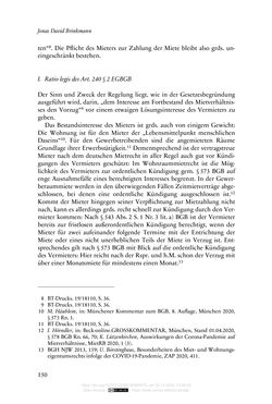 Image of the Page - 150 - in Vertragsrecht in der Coronakrise