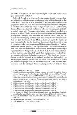 Bild der Seite - 166 - in Vertragsrecht in der Coronakrise