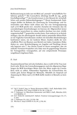 Bild der Seite - 174 - in Vertragsrecht in der Coronakrise