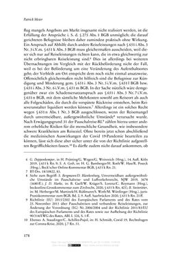 Image of the Page - 178 - in Vertragsrecht in der Coronakrise