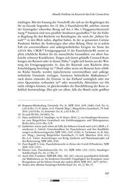 Bild der Seite - 187 - in Vertragsrecht in der Coronakrise