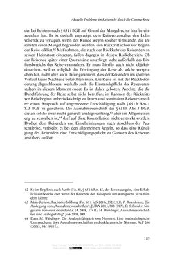 Image of the Page - 189 - in Vertragsrecht in der Coronakrise