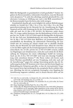 Bild der Seite - 197 - in Vertragsrecht in der Coronakrise