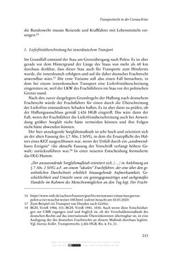 Image of the Page - 213 - in Vertragsrecht in der Coronakrise