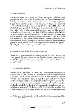 Bild der Seite - 217 - in Vertragsrecht in der Coronakrise