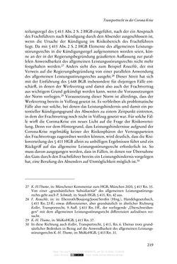 Bild der Seite - 219 - in Vertragsrecht in der Coronakrise