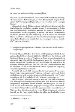 Bild der Seite - 220 - in Vertragsrecht in der Coronakrise