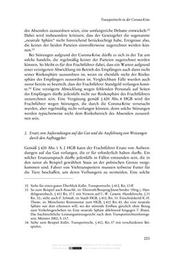 Image of the Page - 221 - in Vertragsrecht in der Coronakrise