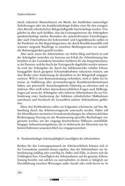 Bild der Seite - 226 - in Vertragsrecht in der Coronakrise