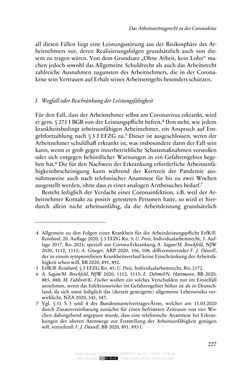 Image of the Page - 227 - in Vertragsrecht in der Coronakrise