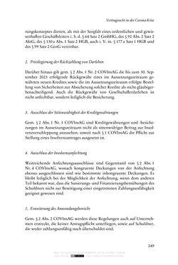Bild der Seite - 249 - in Vertragsrecht in der Coronakrise