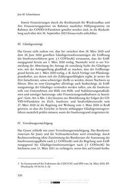 Bild der Seite - 250 - in Vertragsrecht in der Coronakrise