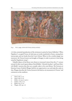 Bild der Seite - 14 - in The Vienna Genesis - Material analysis and conservation of a Late Antique illuminated manuscript on purple parchment