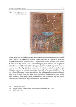 Bild der Seite - 19 - in The Vienna Genesis - Material analysis and conservation of a Late Antique illuminated manuscript on purple parchment