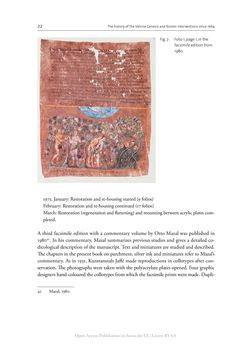 Bild der Seite - 22 - in The Vienna Genesis - Material analysis and conservation of a Late Antique illuminated manuscript on purple parchment