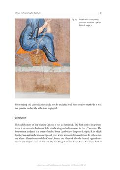 Bild der Seite - 31 - in The Vienna Genesis - Material analysis and conservation of a Late Antique illuminated manuscript on purple parchment