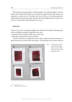 Bild der Seite - 80 - in The Vienna Genesis - Material analysis and conservation of a Late Antique illuminated manuscript on purple parchment