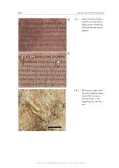 Image of the Page - 122 - in The Vienna Genesis - Material analysis and conservation of a Late Antique illuminated manuscript on purple parchment