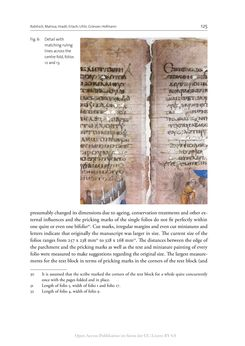 Bild der Seite - 125 - in The Vienna Genesis - Material analysis and conservation of a Late Antique illuminated manuscript on purple parchment