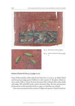 Bild der Seite - 222 - in The Vienna Genesis - Material analysis and conservation of a Late Antique illuminated manuscript on purple parchment