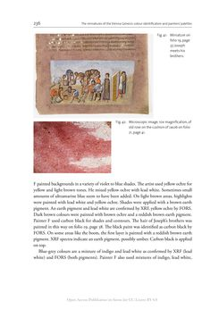 Bild der Seite - 236 - in The Vienna Genesis - Material analysis and conservation of a Late Antique illuminated manuscript on purple parchment