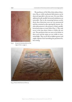Bild der Seite - 250 - in The Vienna Genesis - Material analysis and conservation of a Late Antique illuminated manuscript on purple parchment