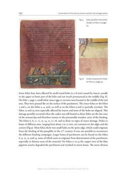 Bild der Seite - 252 - in The Vienna Genesis - Material analysis and conservation of a Late Antique illuminated manuscript on purple parchment