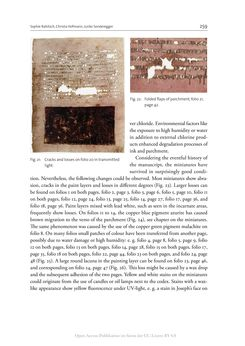 Bild der Seite - 259 - in The Vienna Genesis - Material analysis and conservation of a Late Antique illuminated manuscript on purple parchment