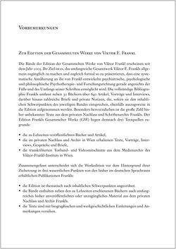 Bild der Seite - (000005) - in Viktor E. Frankl - Gesammlte Werke