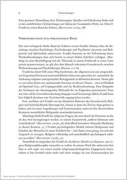 Bild der Seite - 8 - in Viktor E. Frankl - Gesammlte Werke