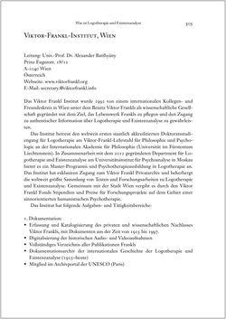 Bild der Seite - 305 - in Viktor E. Frankl - Gesammlte Werke