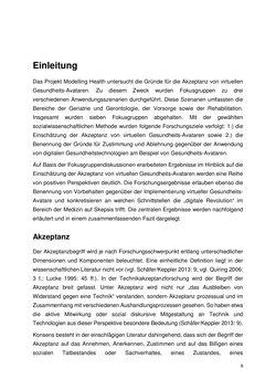 Bild der Seite - 9 - in Die Akzeptanz virtueller Gesundheits-Avatare - Eine Fokusgruppenanalyse, Band 1