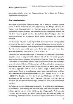 Bild der Seite - 23 - in Die Akzeptanz virtueller Gesundheits-Avatare - Eine Fokusgruppenanalyse, Band 1