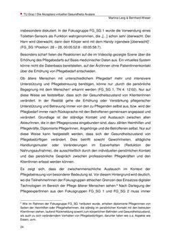 Bild der Seite - 24 - in Die Akzeptanz virtueller Gesundheits-Avatare - Eine Fokusgruppenanalyse, Band 1