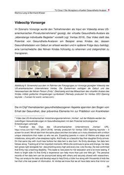 Bild der Seite - 29 - in Die Akzeptanz virtueller Gesundheits-Avatare - Eine Fokusgruppenanalyse, Band 1