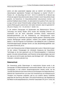Bild der Seite - 31 - in Die Akzeptanz virtueller Gesundheits-Avatare - Eine Fokusgruppenanalyse, Band 1